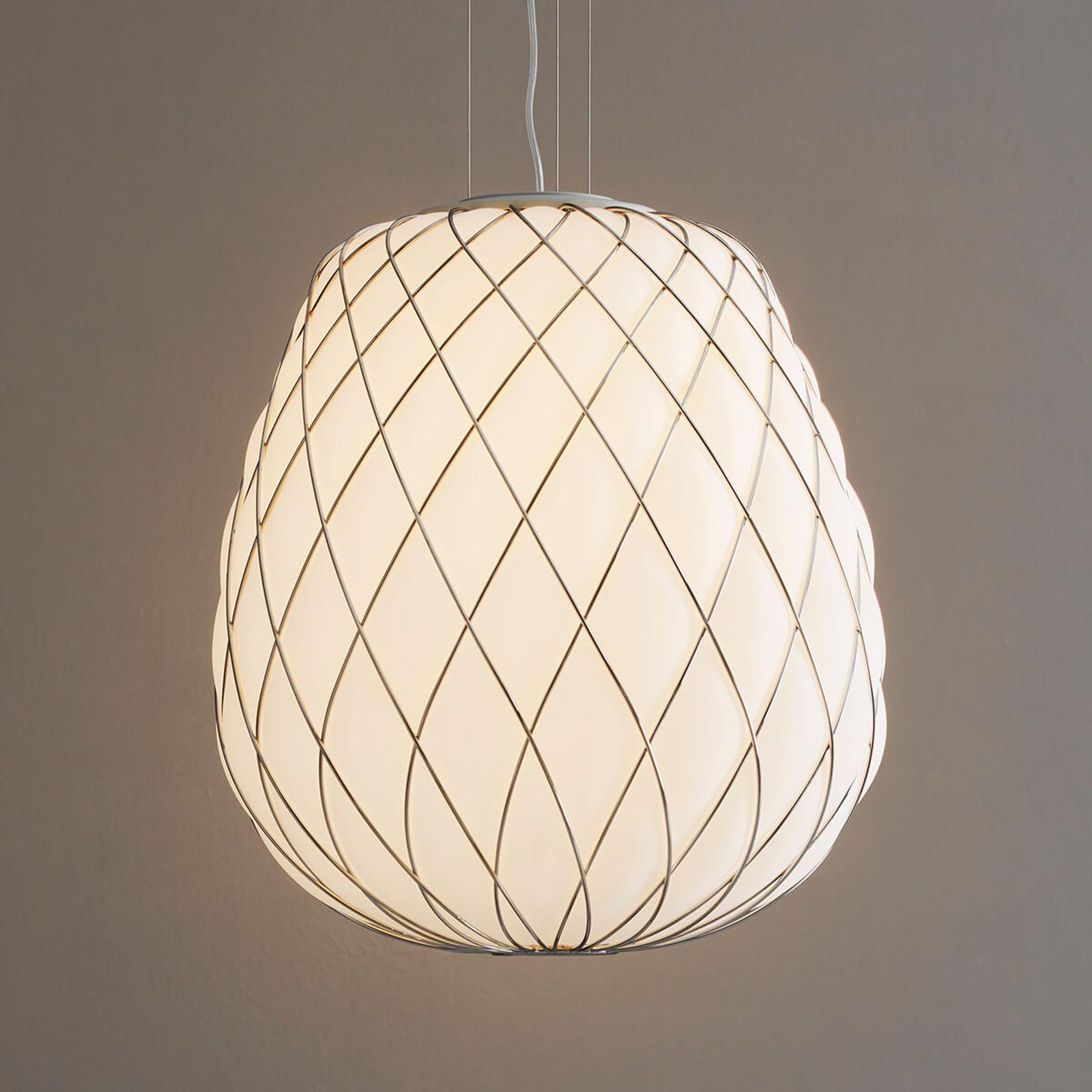 Designerska lampa wisząca Pinecone, mleczne szkło