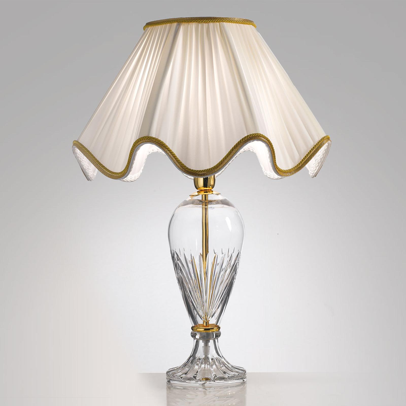 Tischleuchte Belle Epoque, 50 cm gold