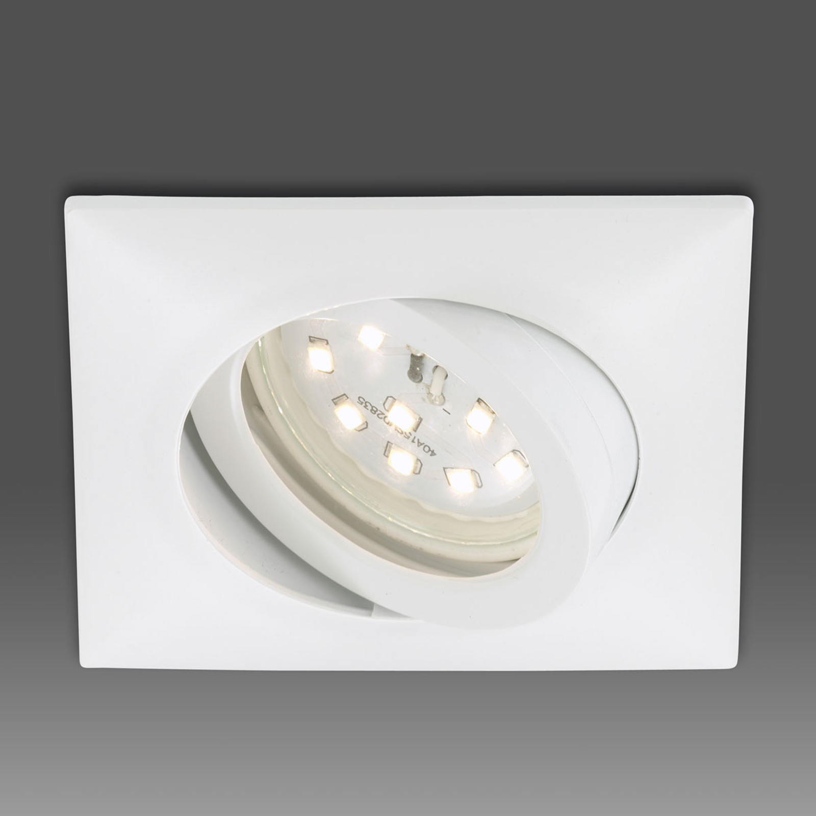 Reflektor wpuszczany LED Erik biały kątowy