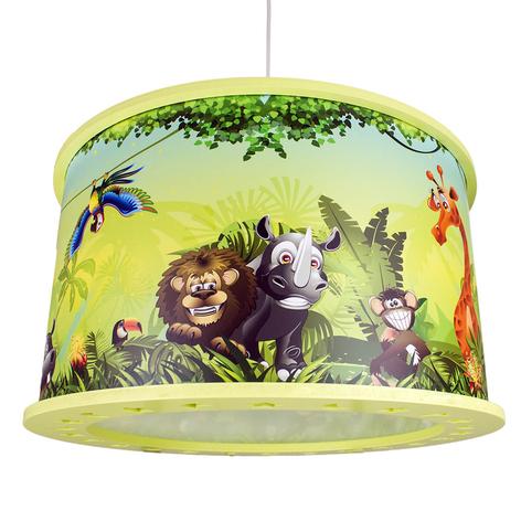 Kinderkamer hanglamp wildernis met jungle-motief