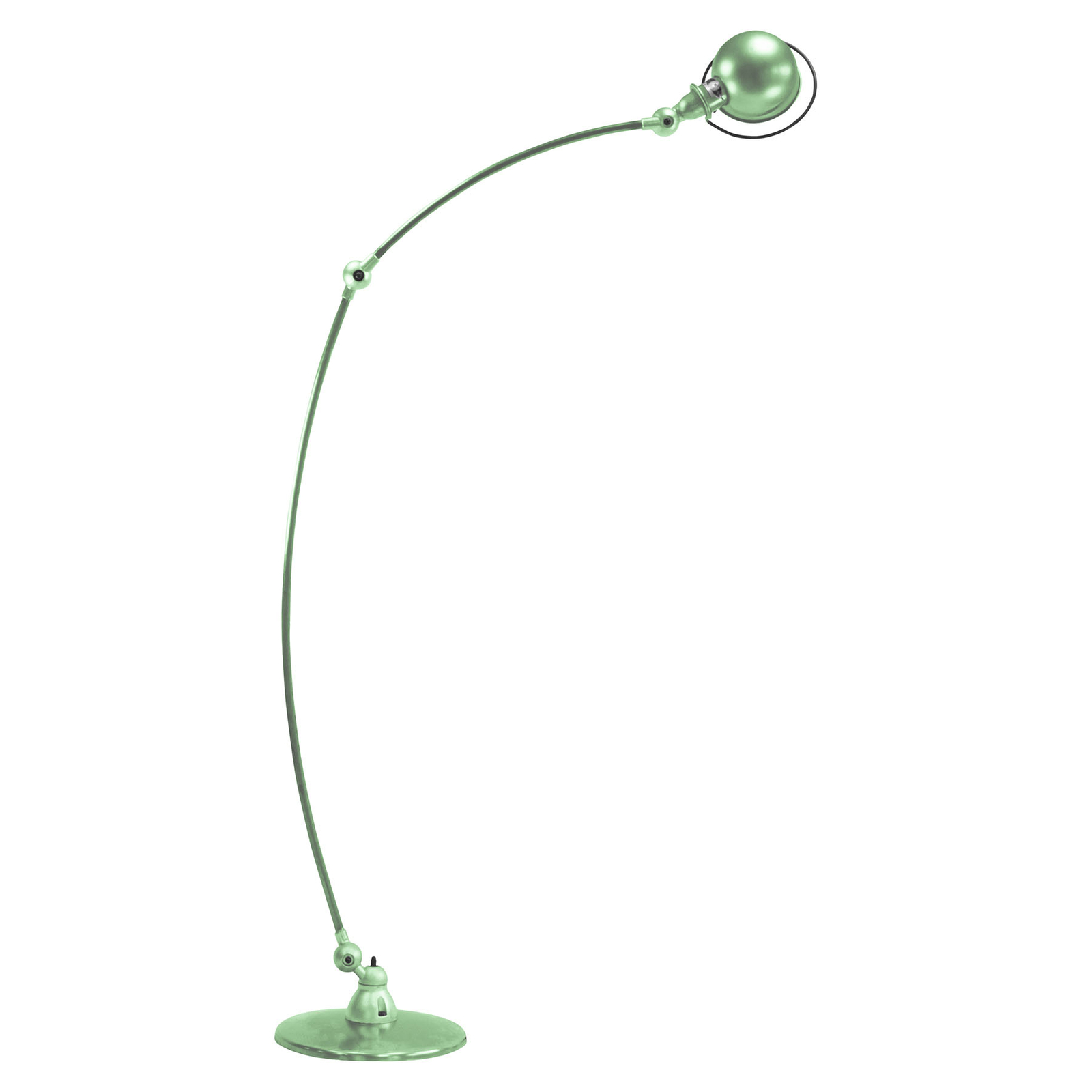 Jieldé Loft C1260 bågformad golvlampa, mintgrön