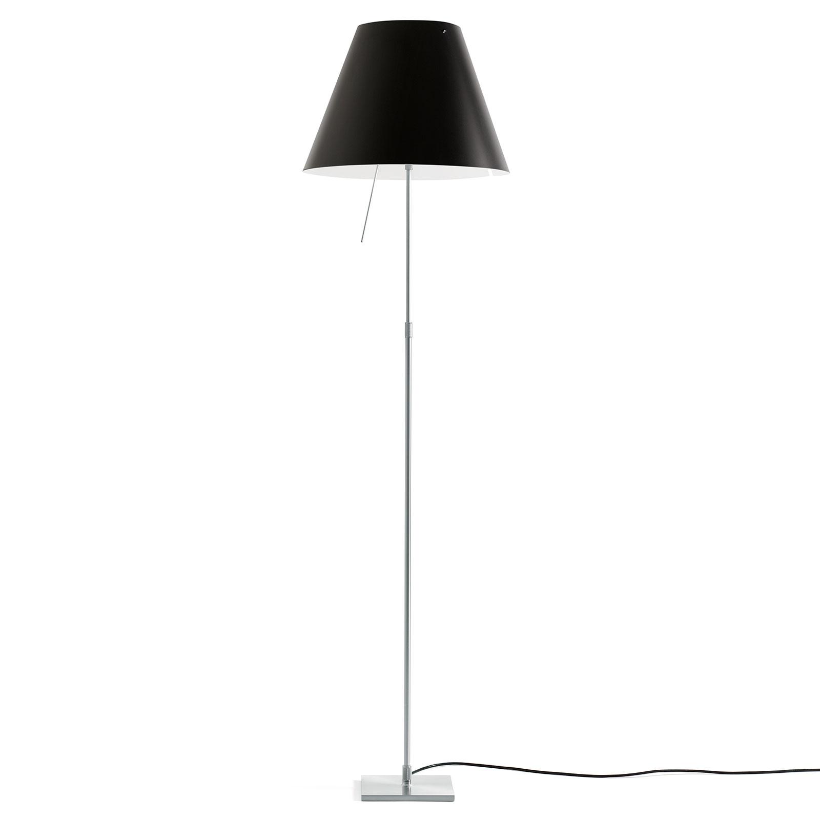 Luceplan Costanza vloerlamp D13ti, alu/zwart