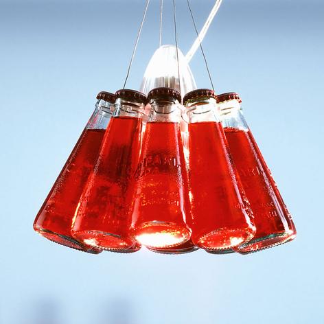 Campari Light – hänglampa med Campari-flaskor
