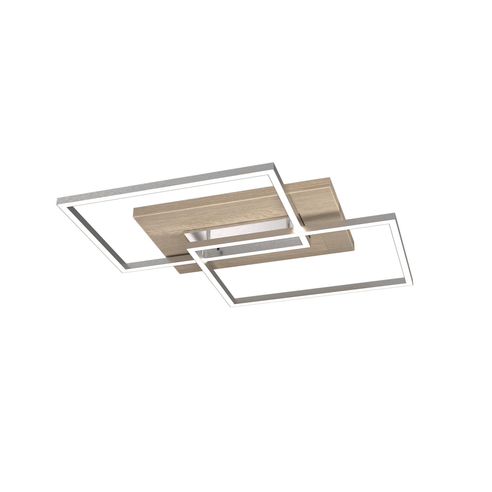 LED-Deckenleuchte Panama S, Eiche gekalkt