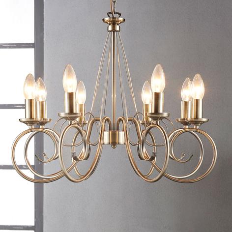 Marnia - lampadario a otto luci ottone antico