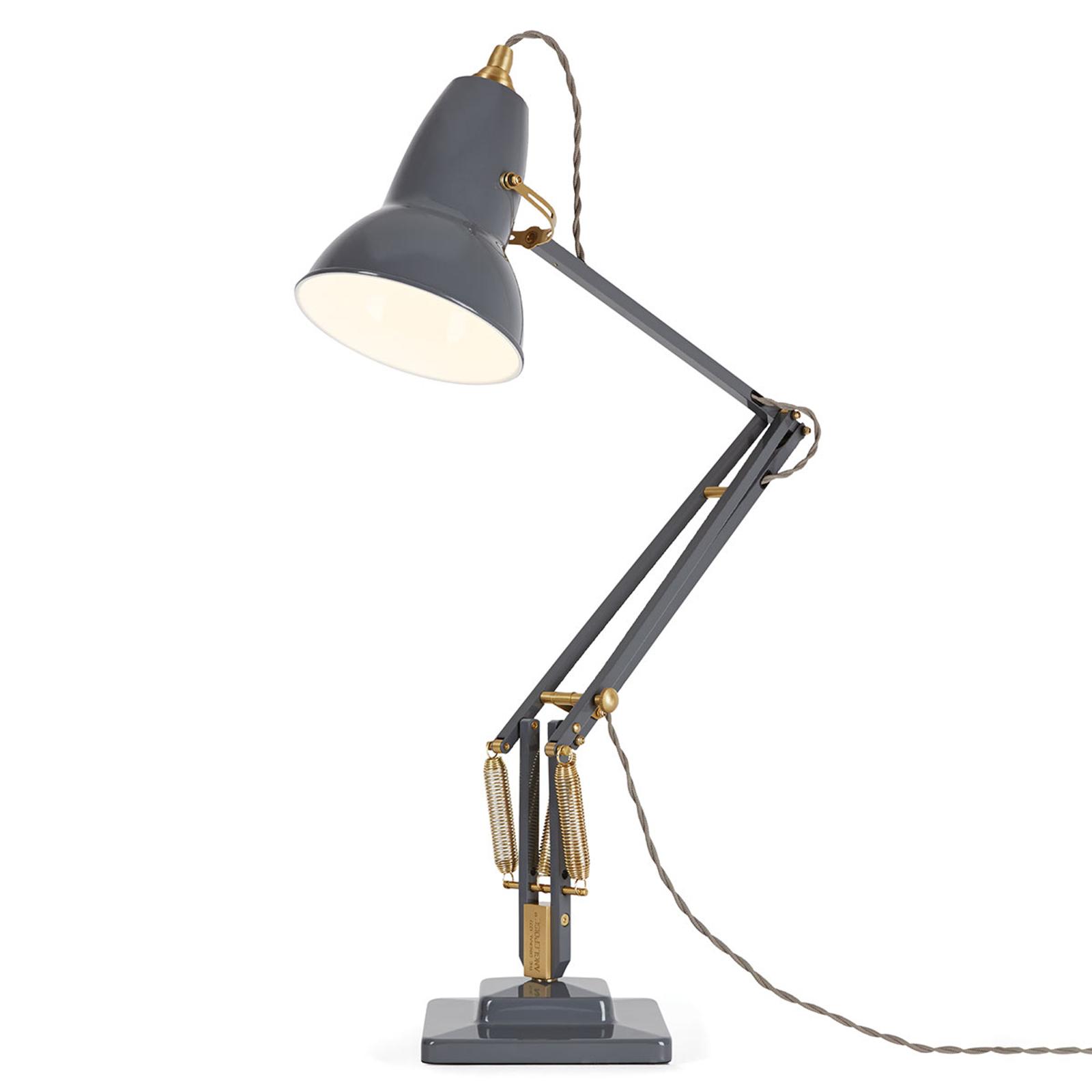 Anglepoise Original 1227 Brass Tischlampe grau