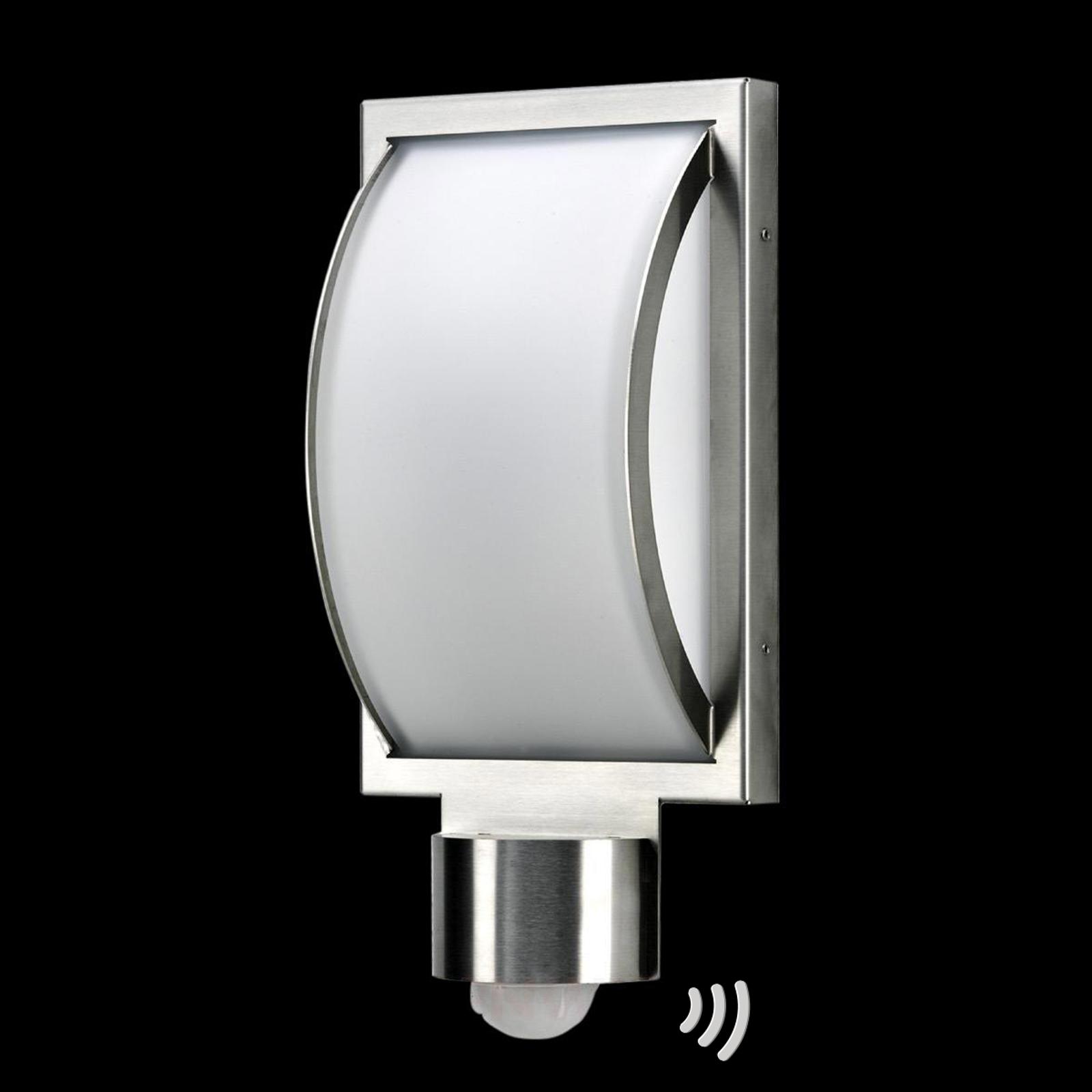 Buitenwandlamp Curvo met bewegingssensor