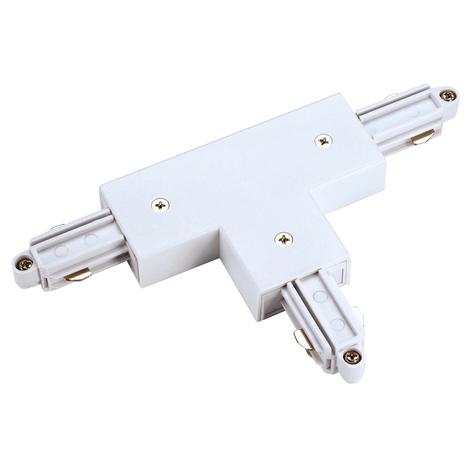 SLV connecteur T rail monophasé HT droite, blanc