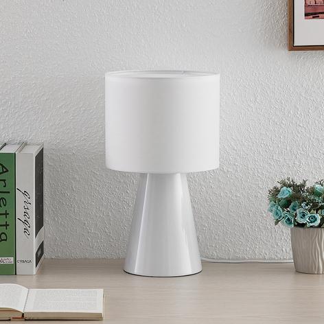 Lindby Erantie lámpara de mesa toda en blanco