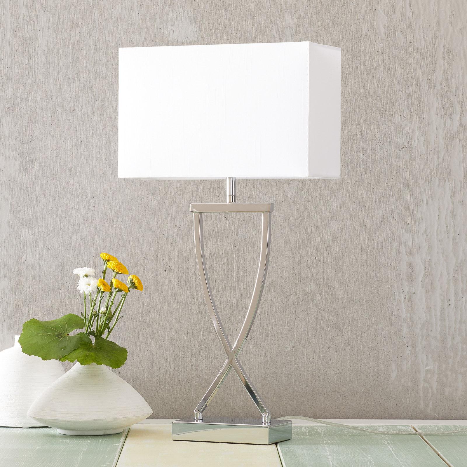 Tischleuchte Anni chrom-weiß