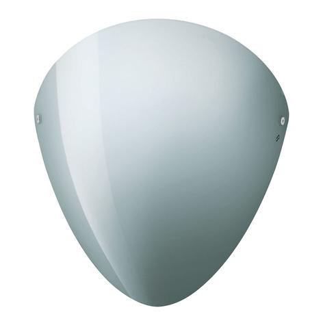 Ovalina - nástěnné světlo E27 lesklá