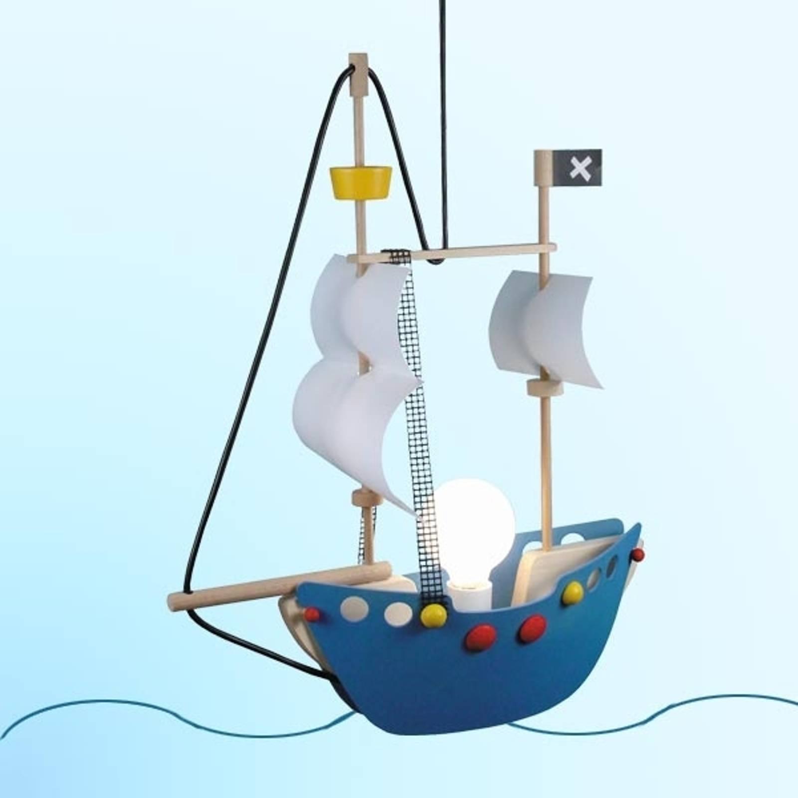 Abenteuerliche Pendelleuchte Piratenschiff