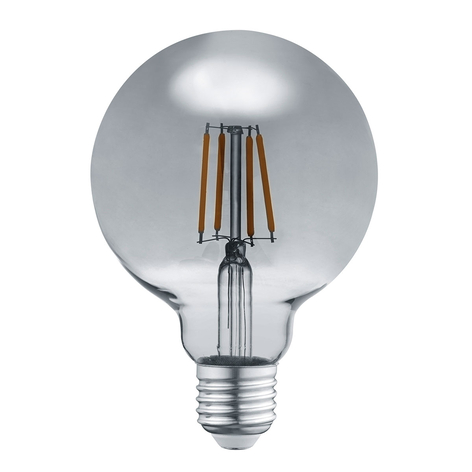 LED bollamp E27 6W 3.000K rook