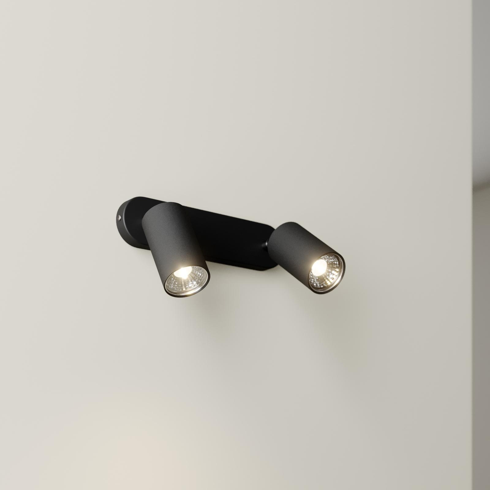 Eye Spot vægspot, 2 lyskilder, sort