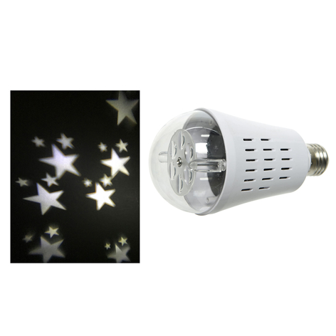 Bombilla LED con proyector de estrellas E27