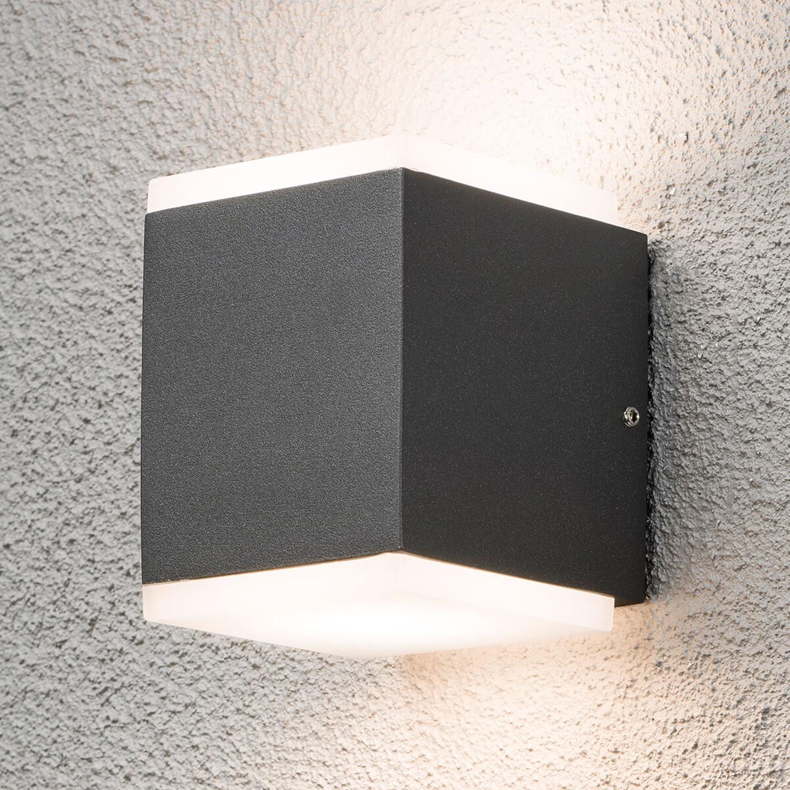 LED buitenwandlamp Monza vierkant 2-lamps