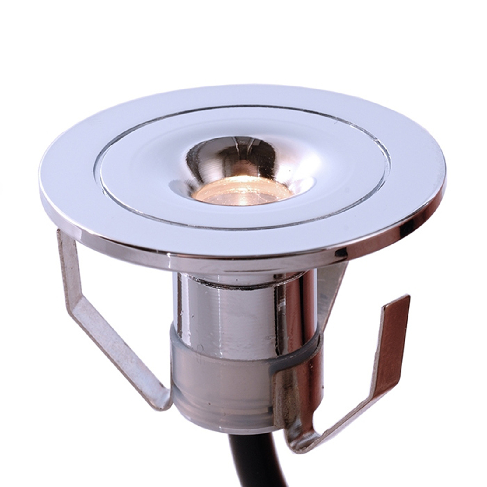 Pequeña lámpara empotrada LED Punto Lumi, cromada