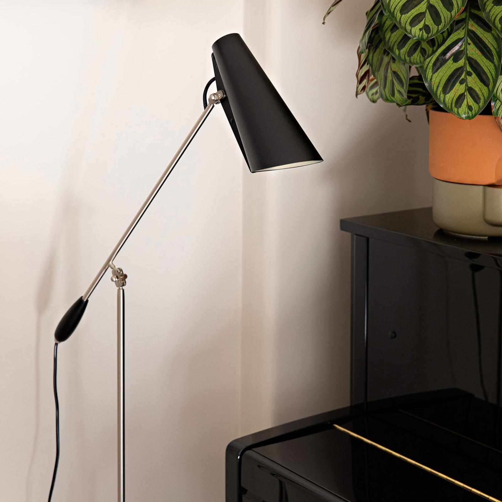 Northern Birdy - vloerlamp in zwart en staal