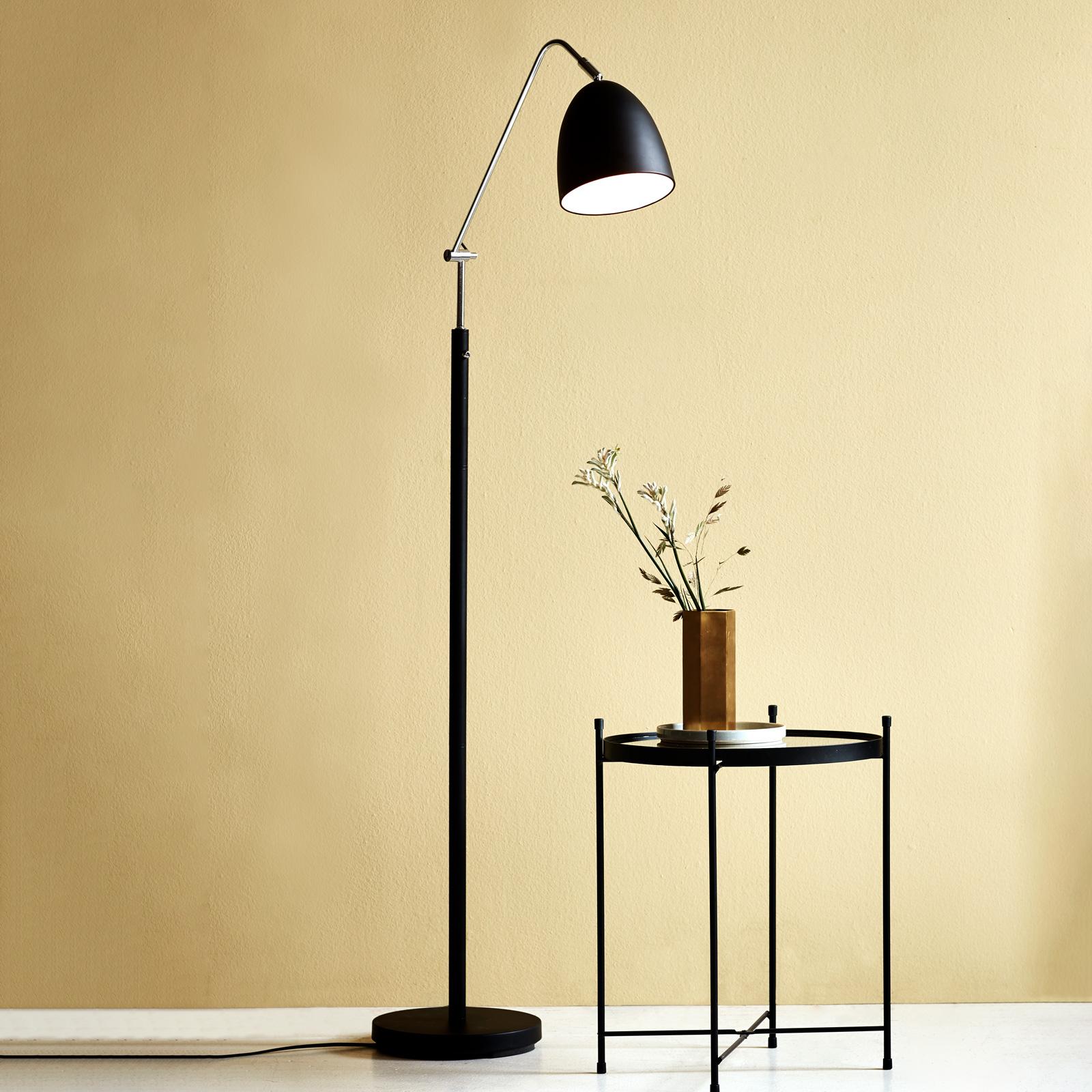 Vloerlamp Alexander in delicate vorm, zwart