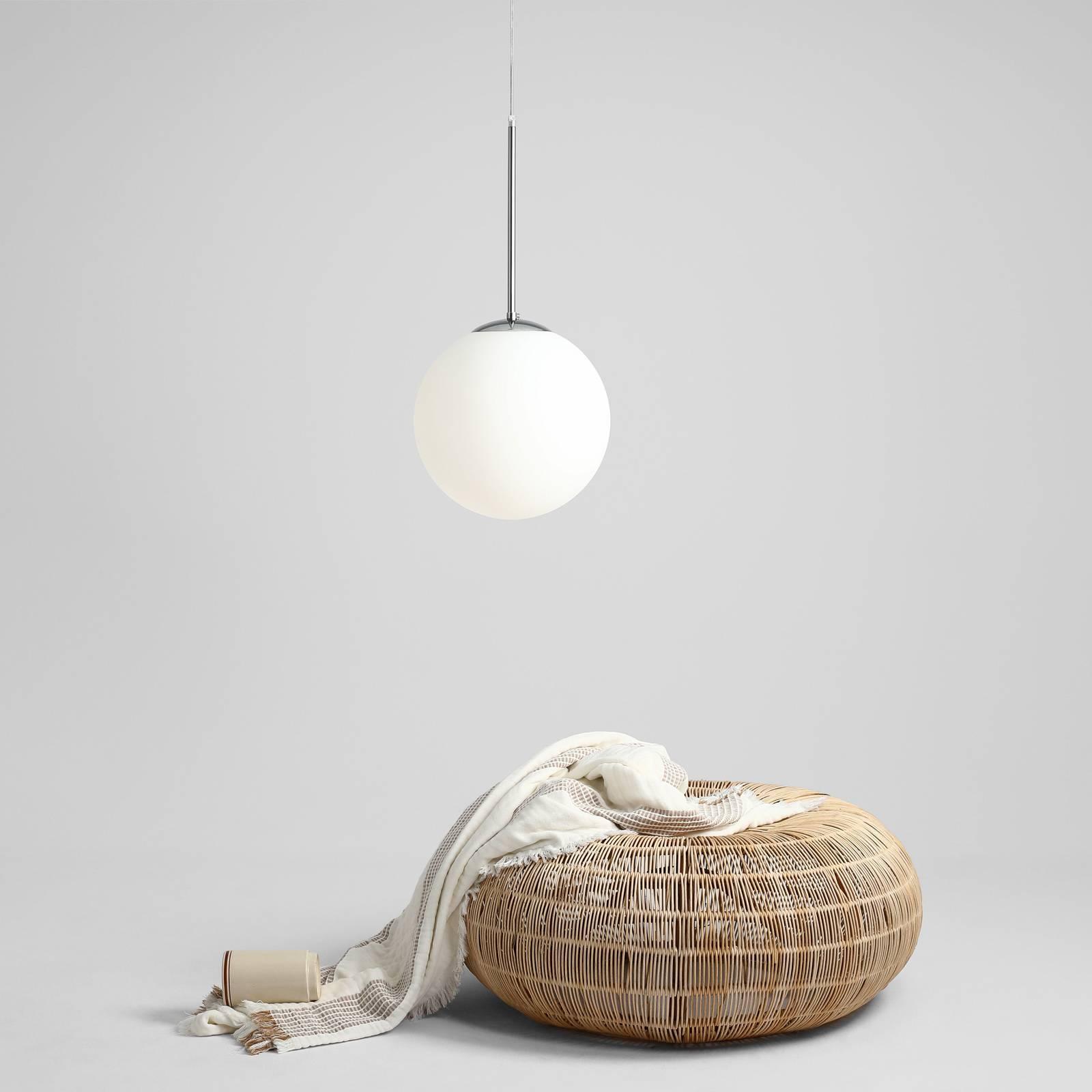 Hanglamp Bosso, 1-lamp, wit/chroom