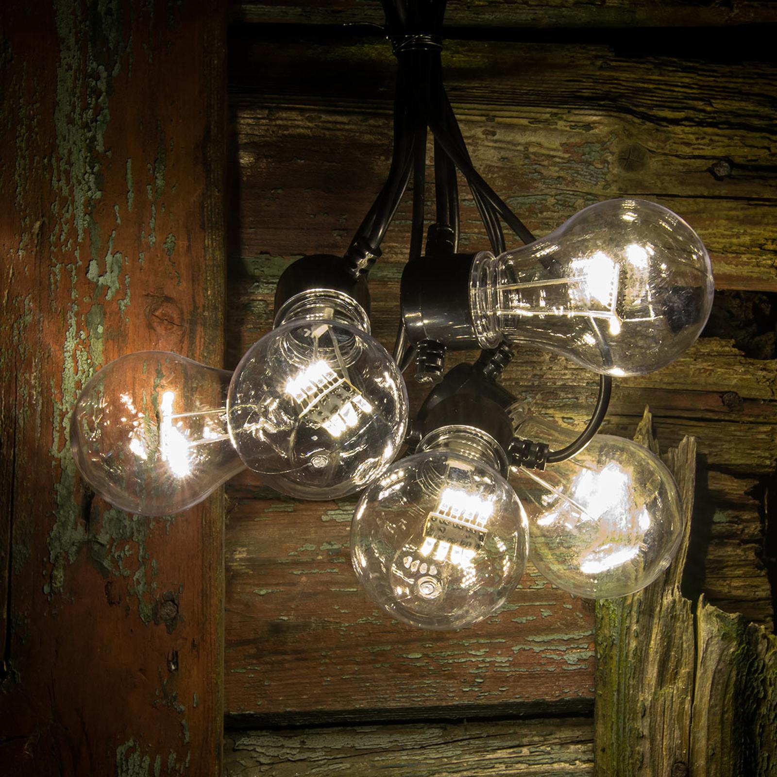 Guirlande LED filament blanc chaud 5 lampes