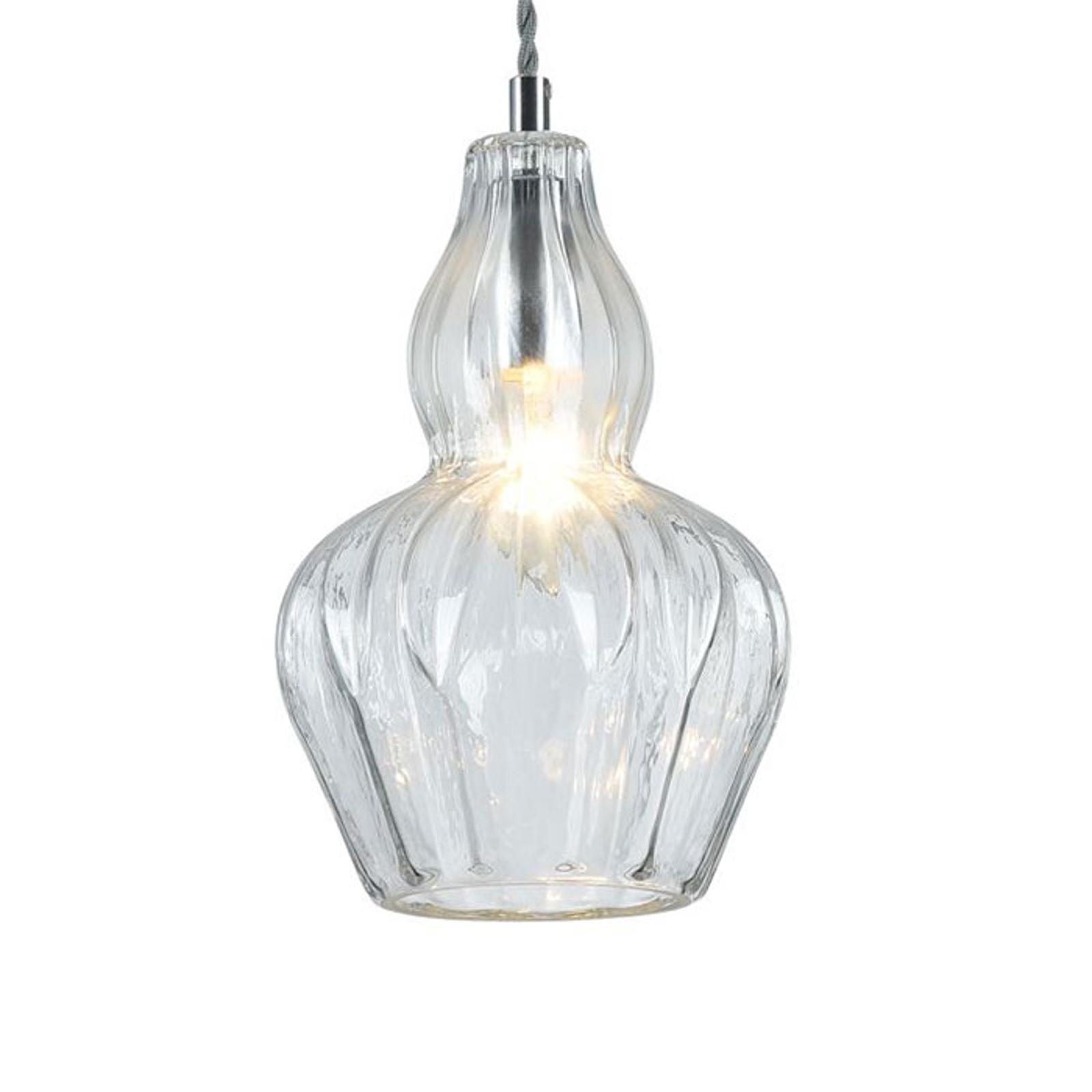 Lampa wisząca Eustoma z przezroczystym kloszem