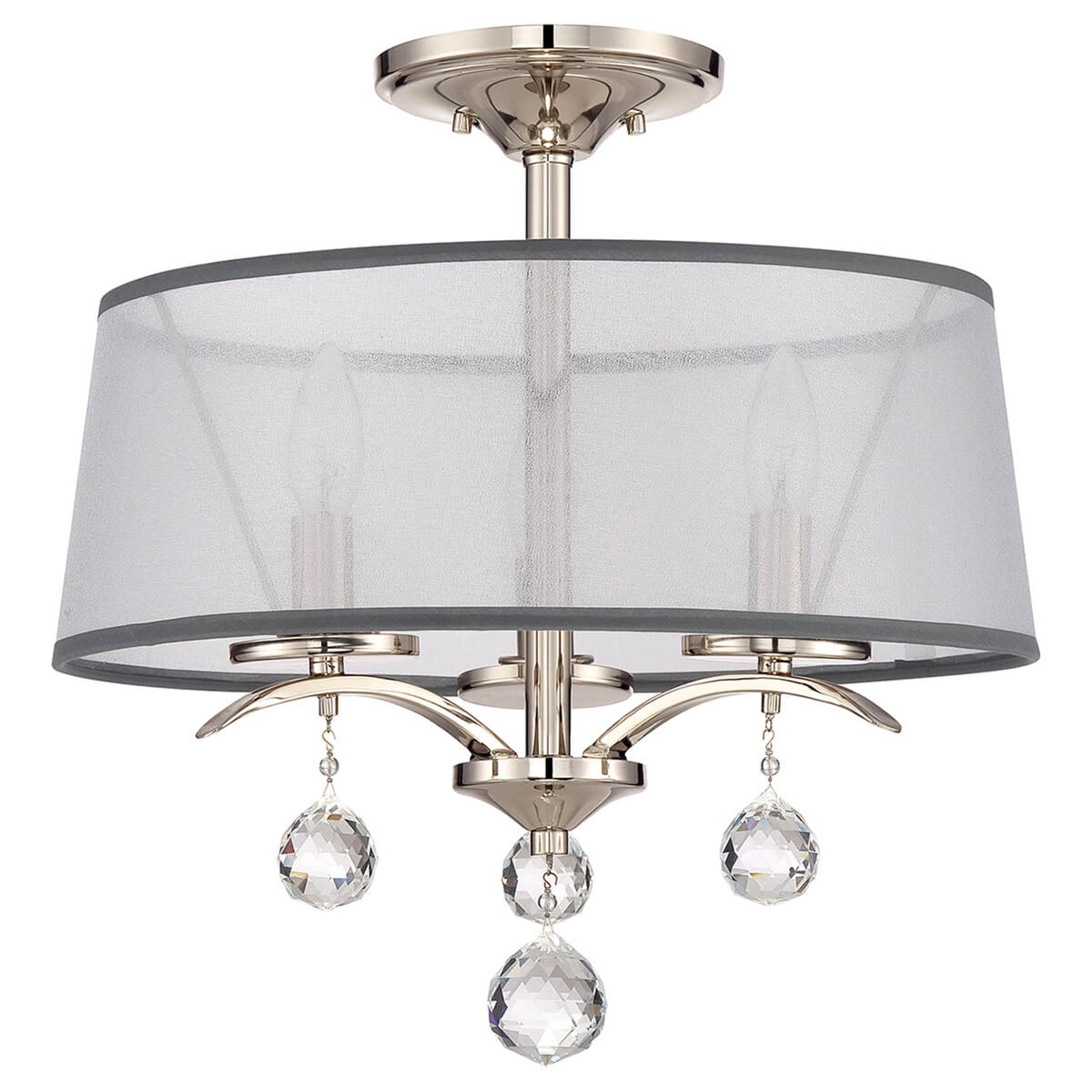 Z ozdobami z kryształków – lampa sufitowa Whitney
