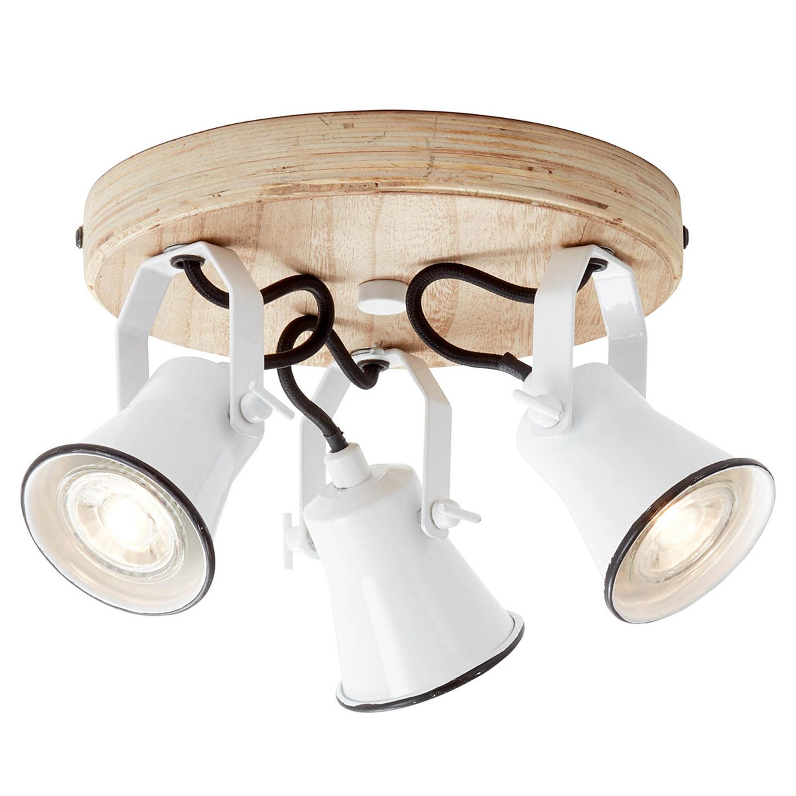 Takspot Seed-lampeskjermer 3 lyskilder hvit