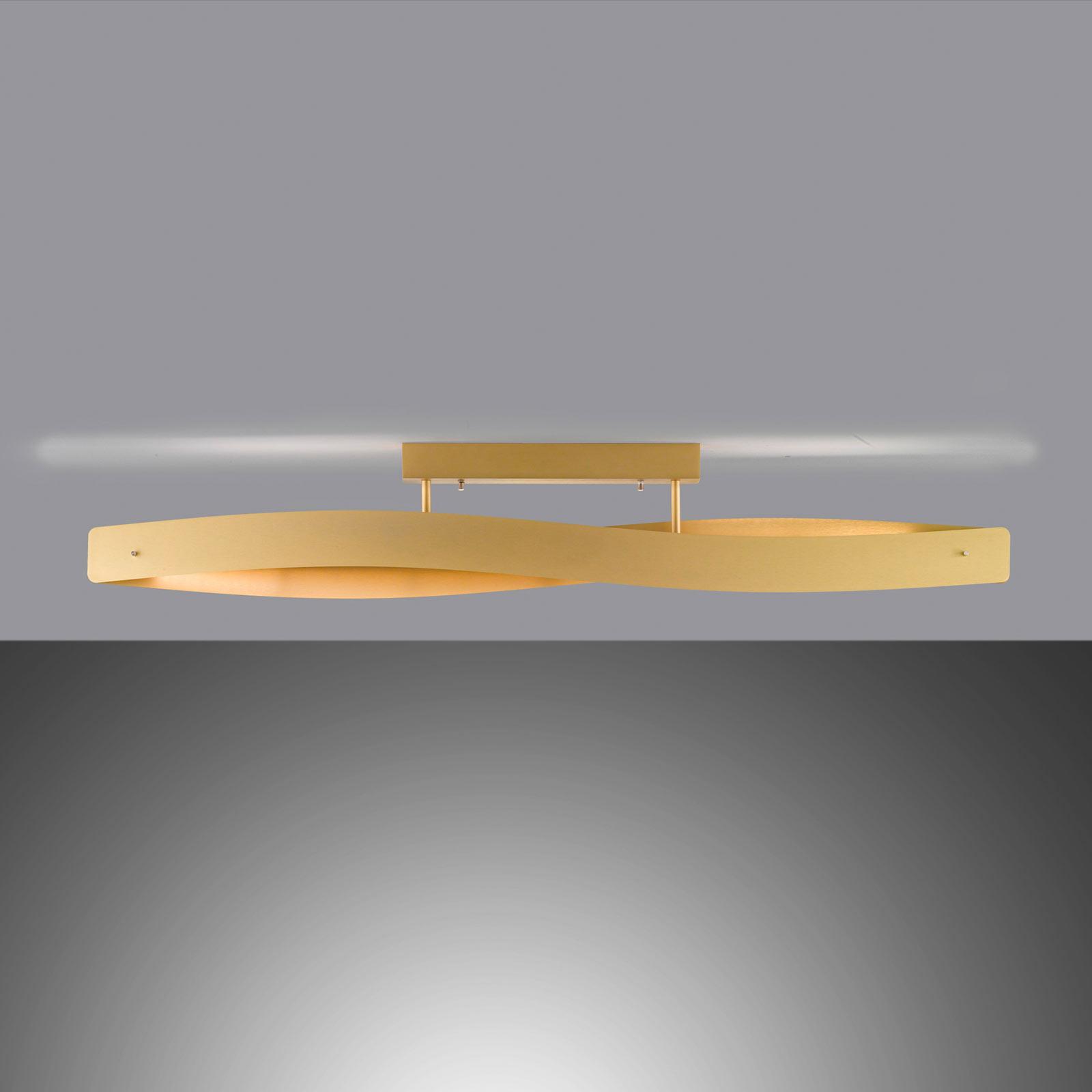 Lucande Lian lampa sufitowa LED, mosiądz matowy