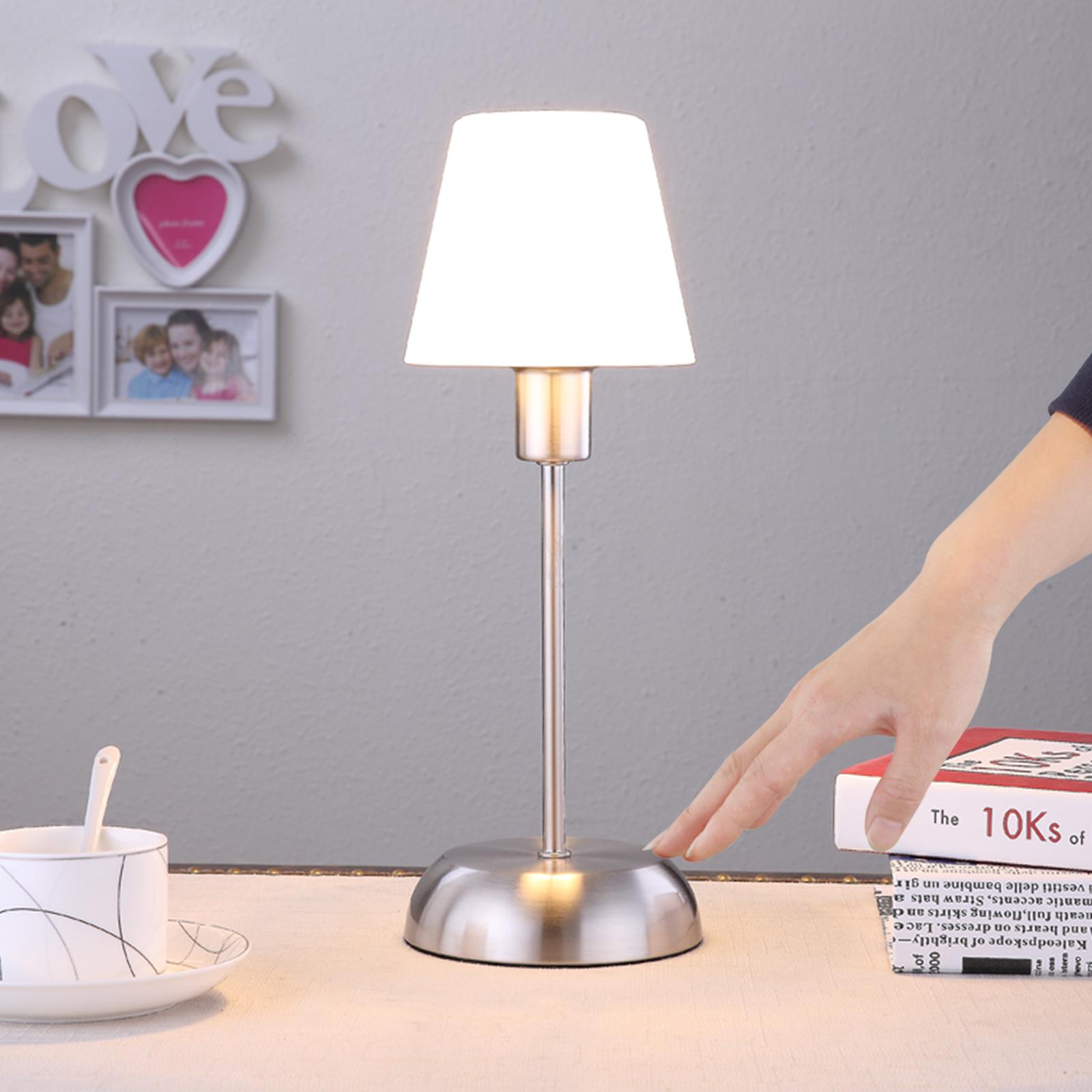 Gregor - lampa stołowa ze szklanym kloszem