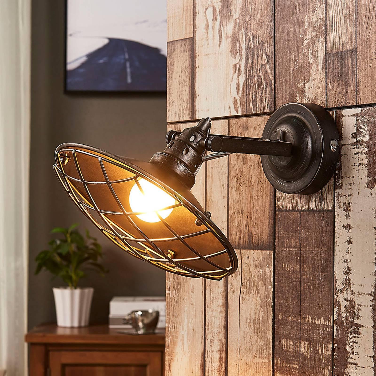 Pekka - wandlamp met roosterafdekking