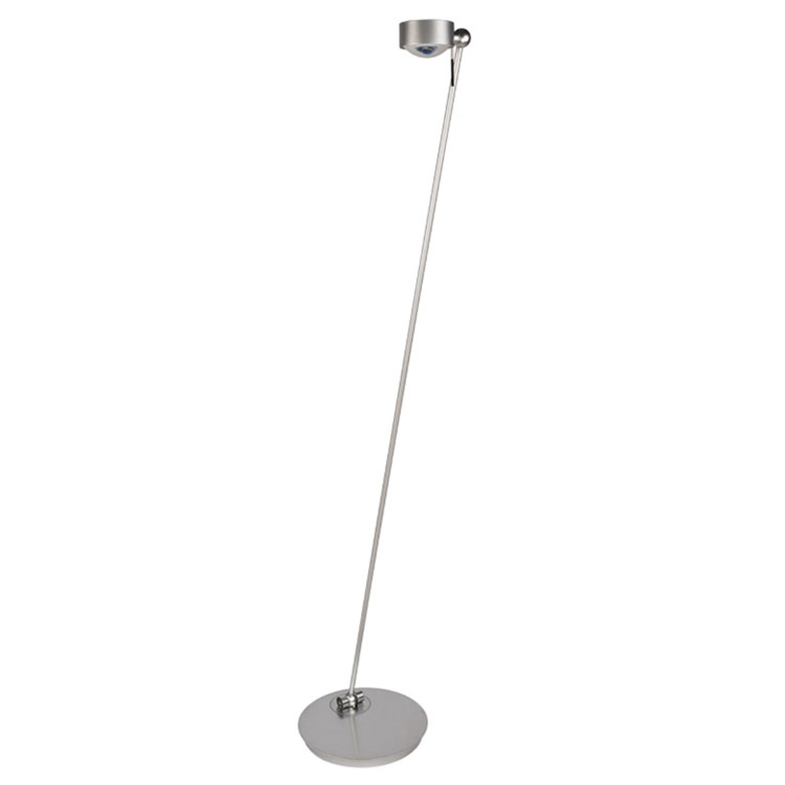 LED vloerlamp Puk Floor Mini Single mat nikkel
