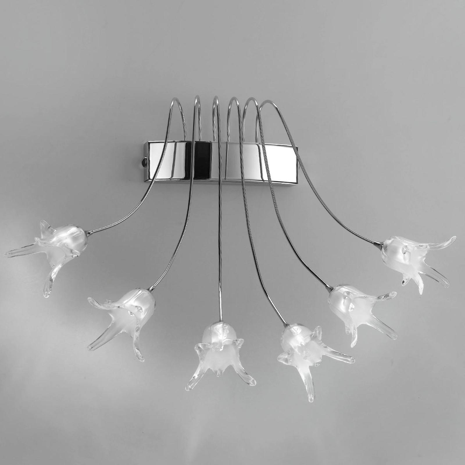 Vegglampe 7130 krom, seks lyskilder