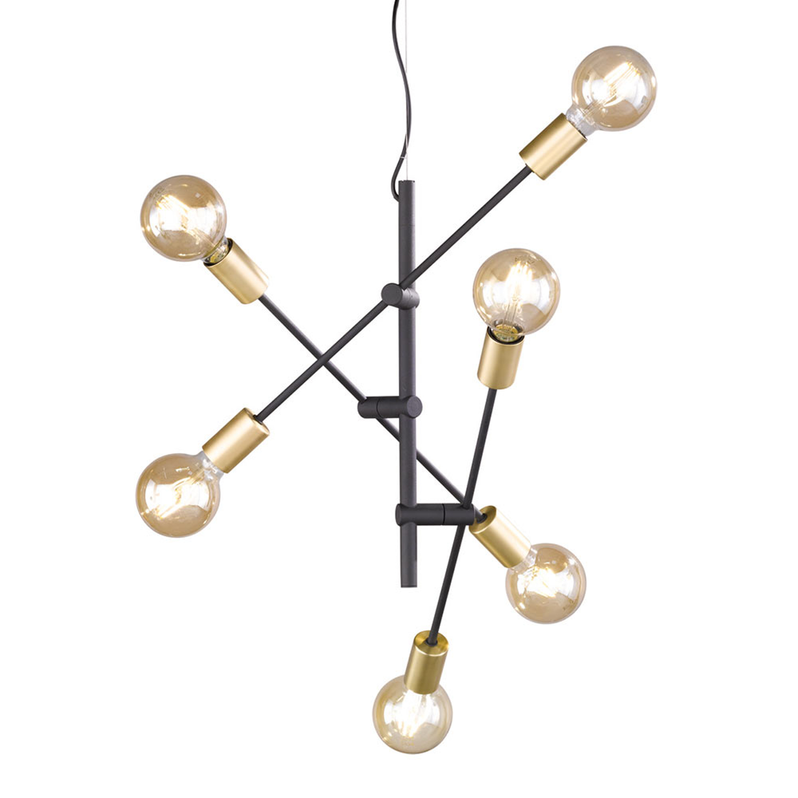 Minimalistisch vormgegeven hanglamp Cross