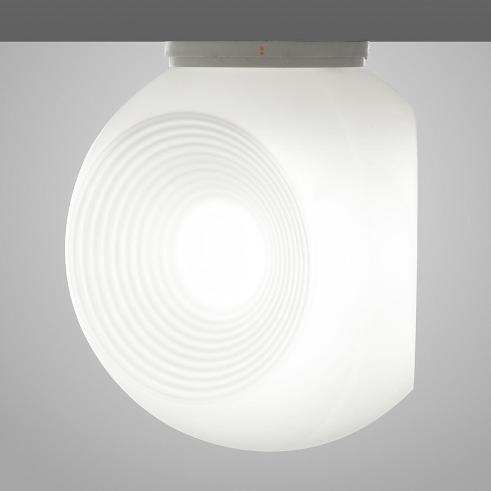 Biała szklana lampa sufitowa Eyes