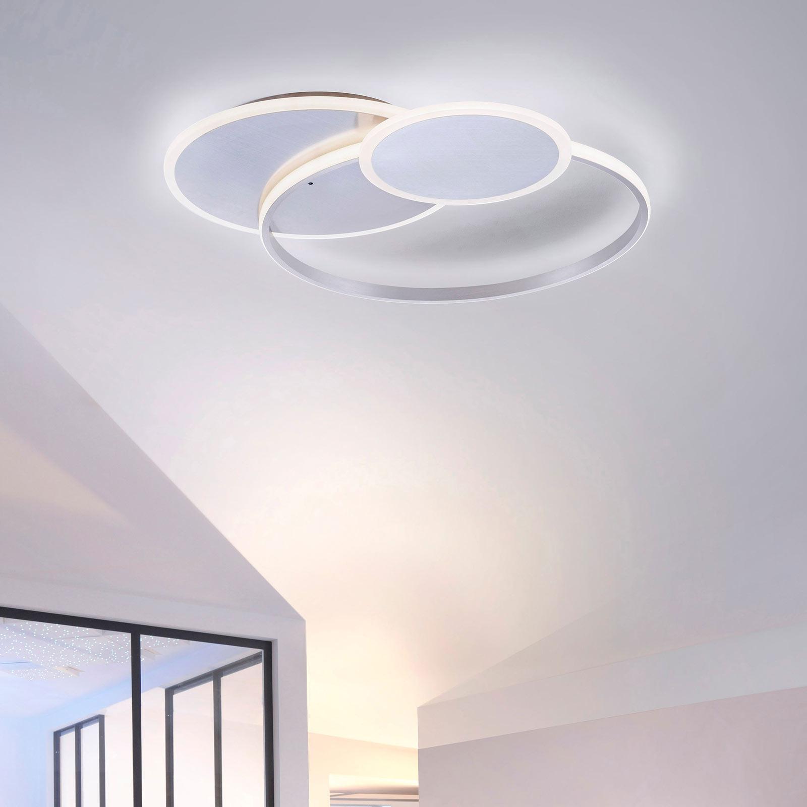LED-taklampe Emilio med fjernkontroll, rund