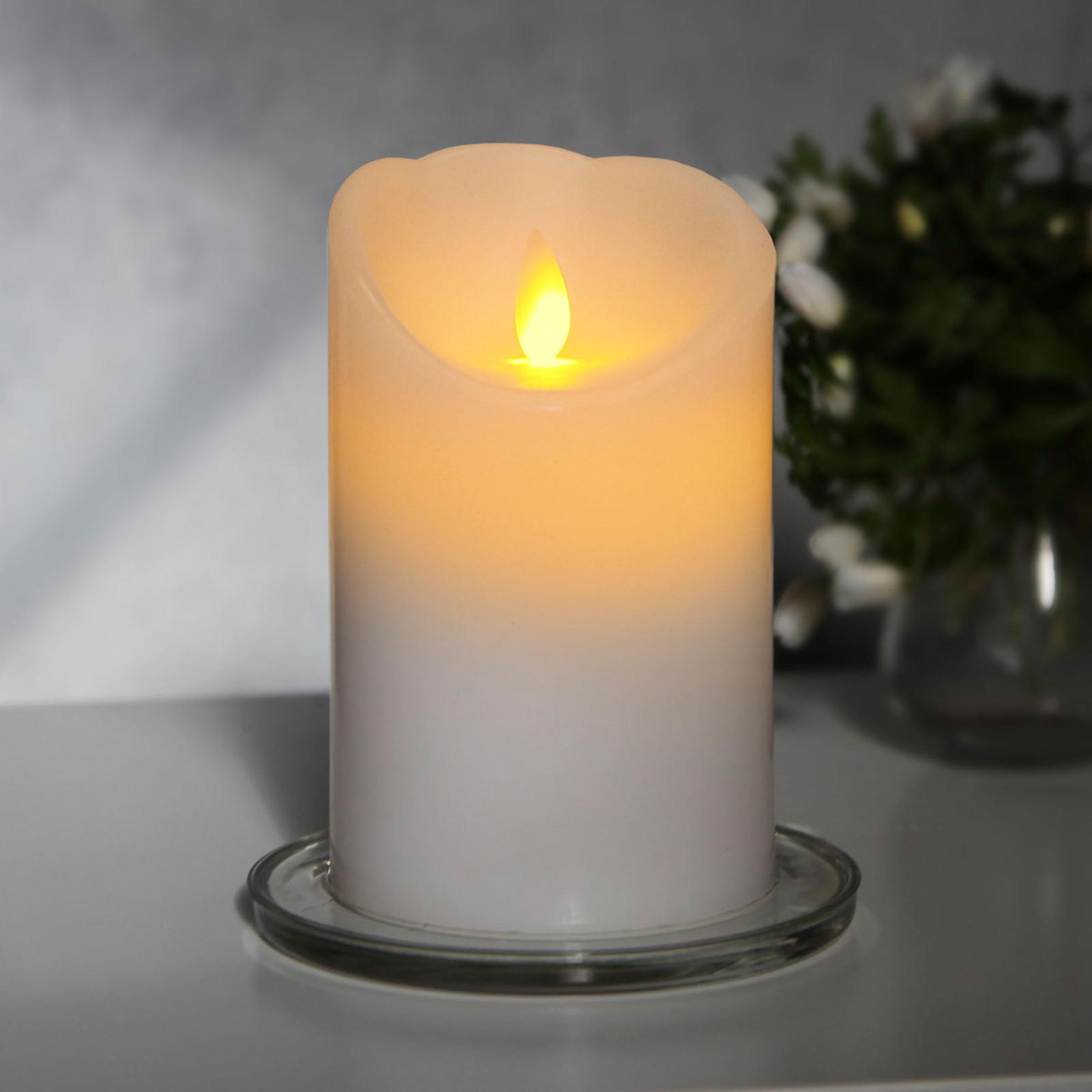 Candela LED bianca Glim con luce tremolante