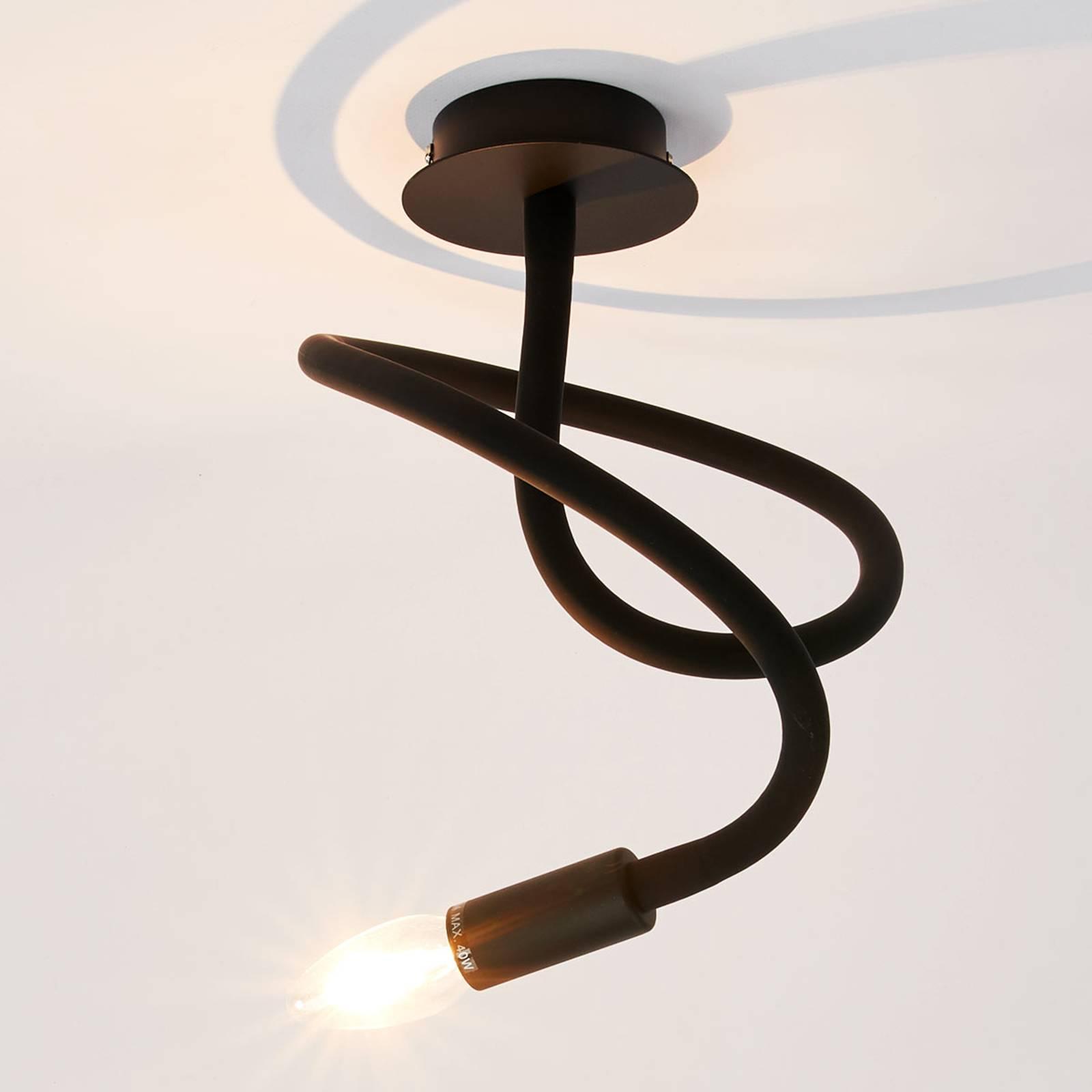 Wyjątkowa lampa sufitowa Lover, czarna
