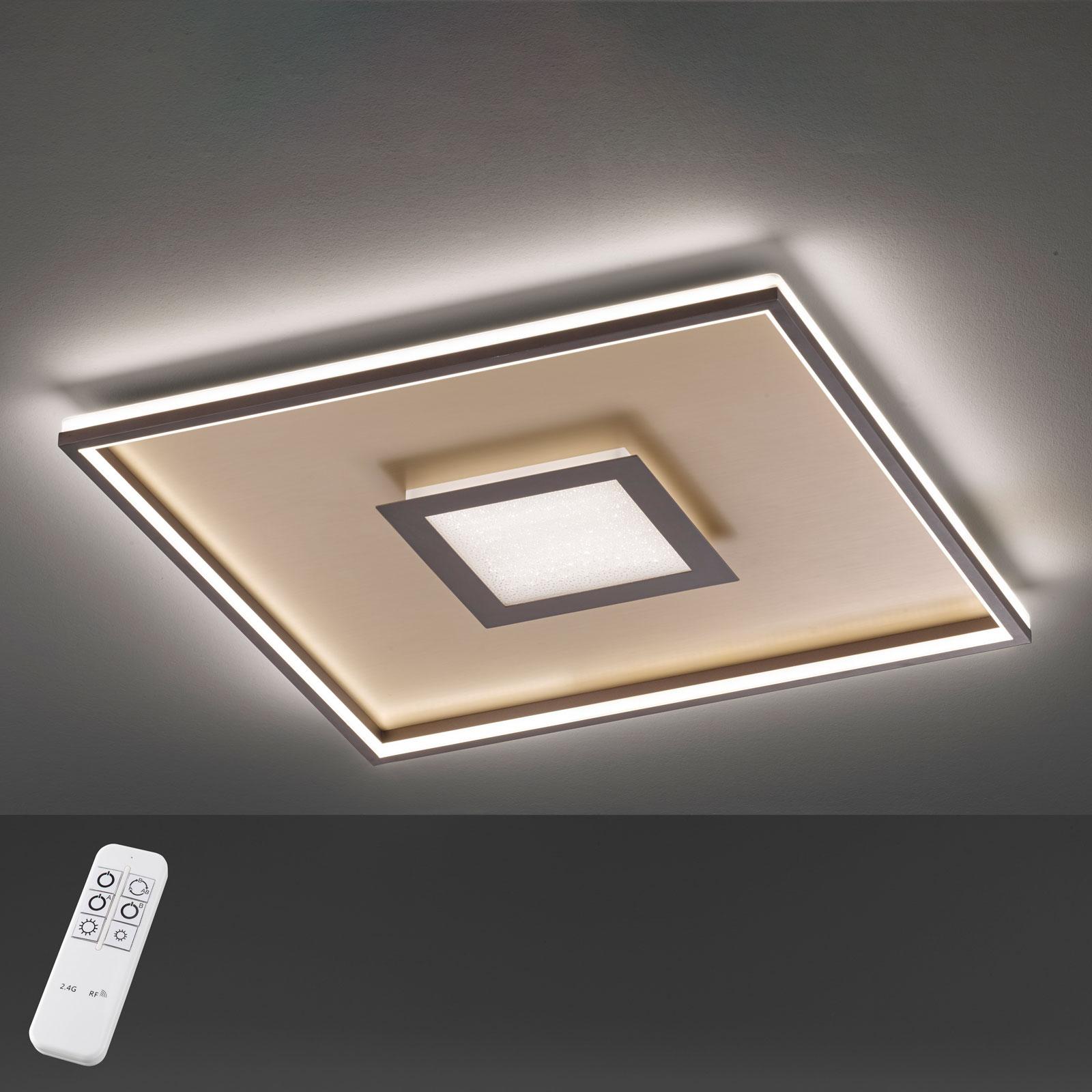 Plafoniera LED Bug quadrata, ruggine 40x40 cm