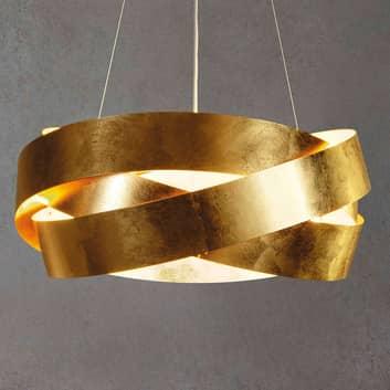 Pura LED-hængelampe med bladguld 60 cm