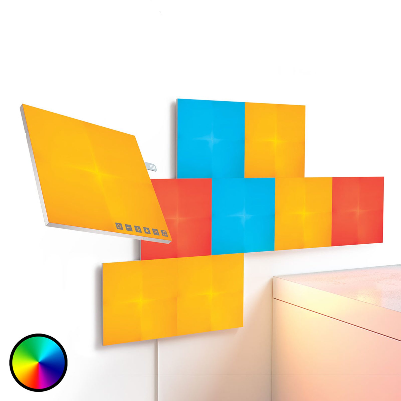 Nanoleaf Canvas startsett med 9 Light Panels