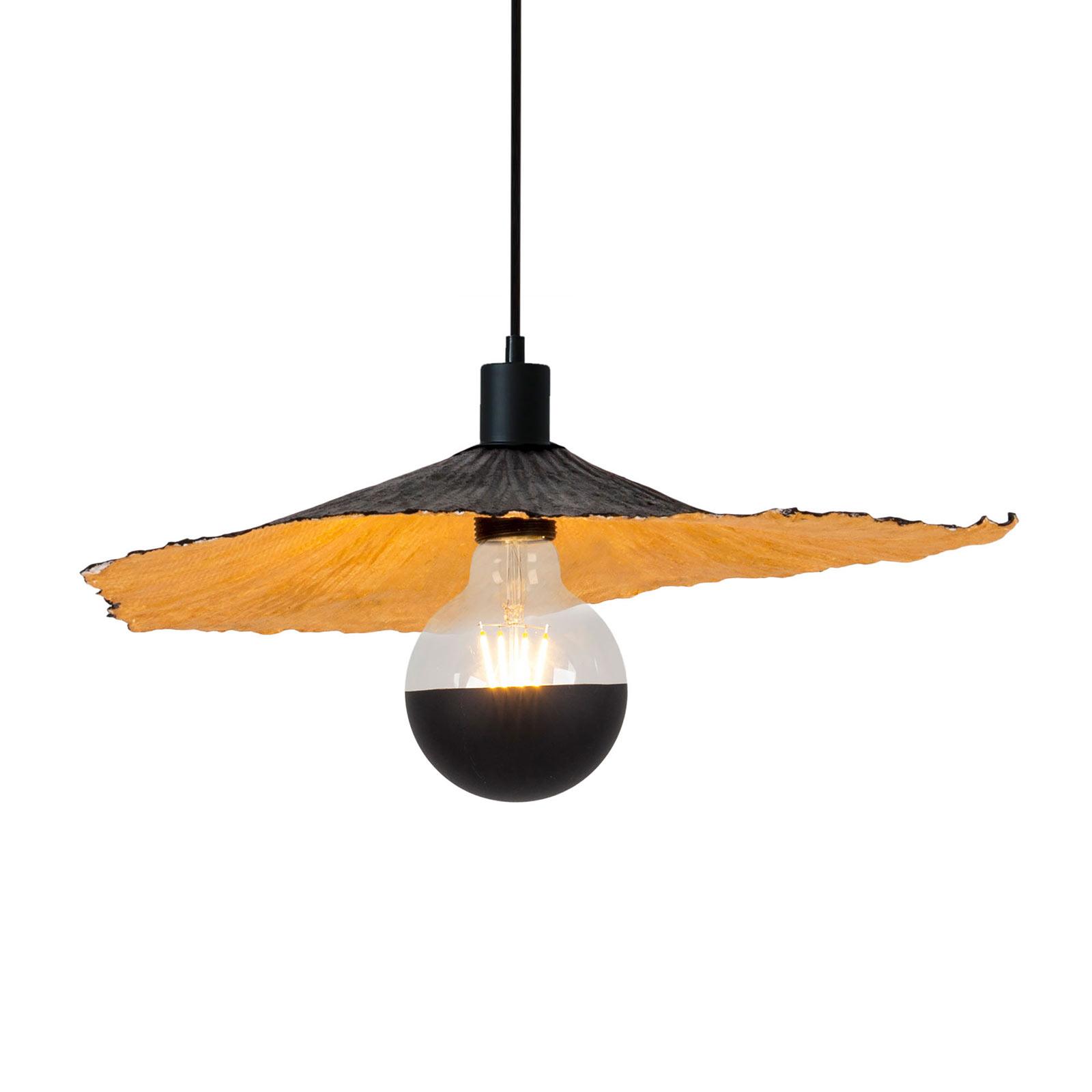 Lampa wisząca Crazy Paper, czarno-złota, Ø 41cm