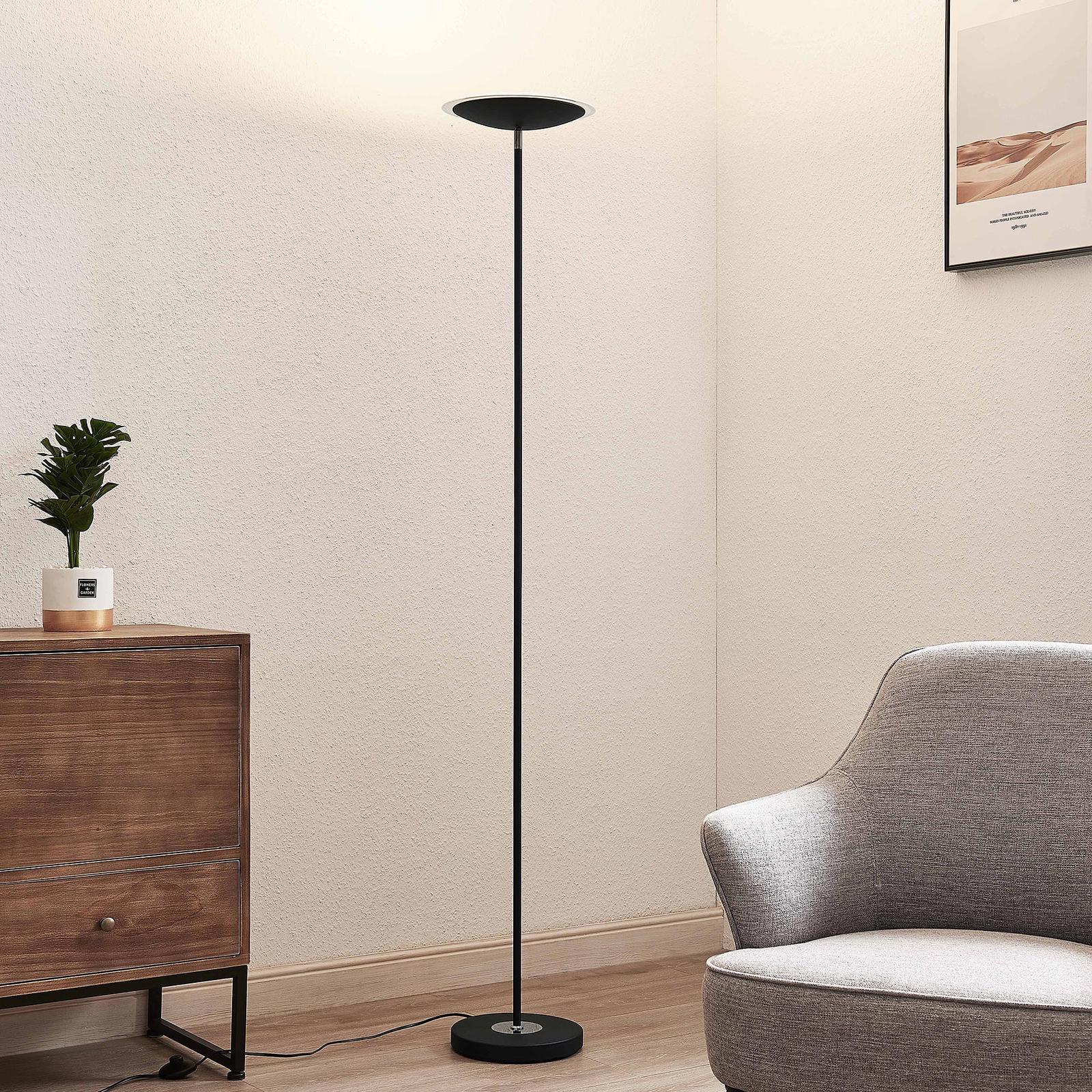 Lindby Heliani piantana LED, 1 luce, nero