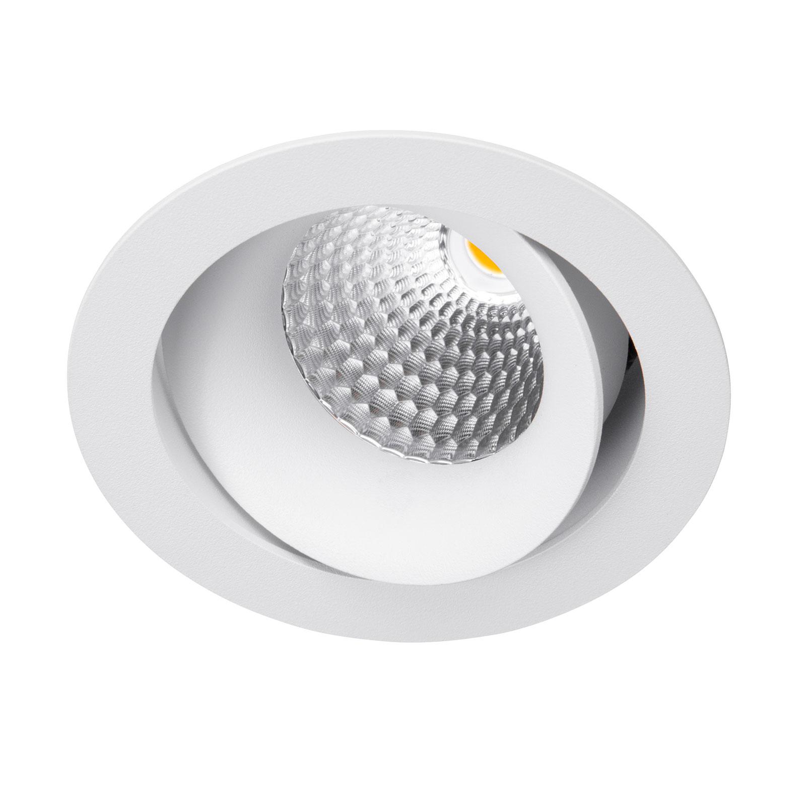LED-Einbaustrahler Carda Piccolo, weiß, 36 Grad