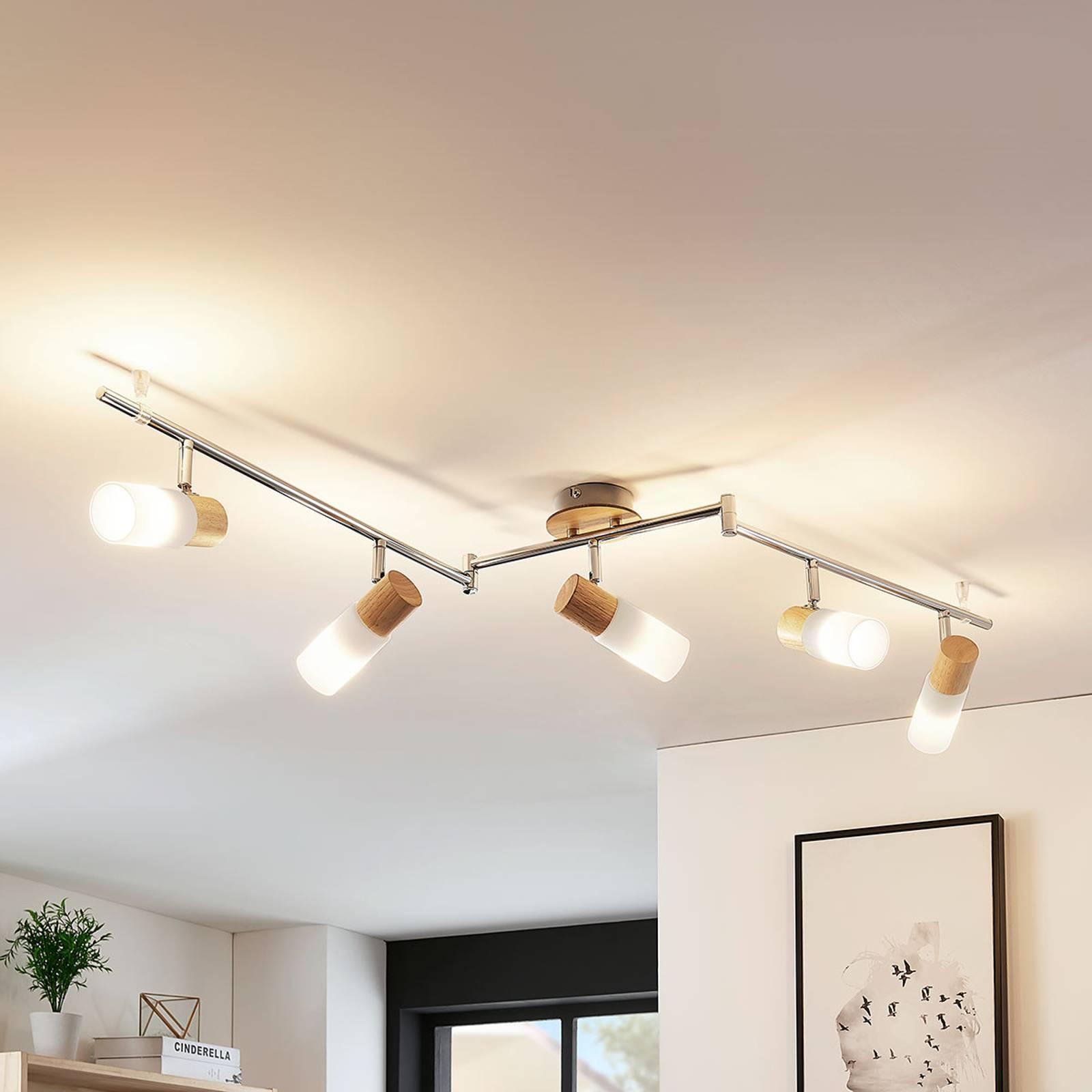 Reflektor sufitowy LED Krzysztof, 5-punktowy