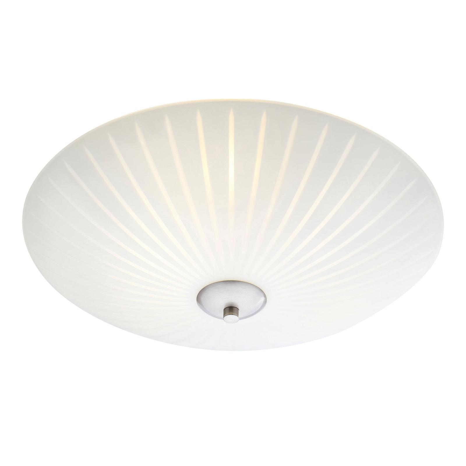 Glass-taklampe Cut, Ø 43 cm