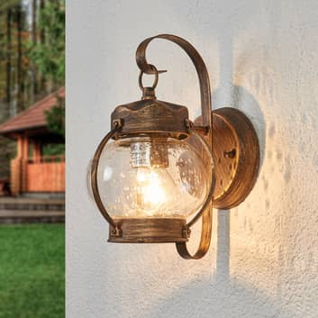 Applique da esterno Margherita con vetro soffiato