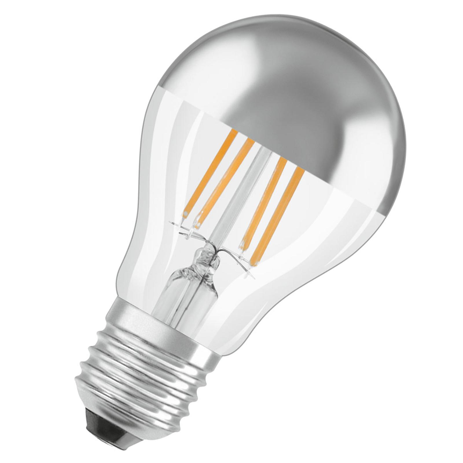 OSRAM LED-Lampe E27 Mirror silver 4W warmweiß