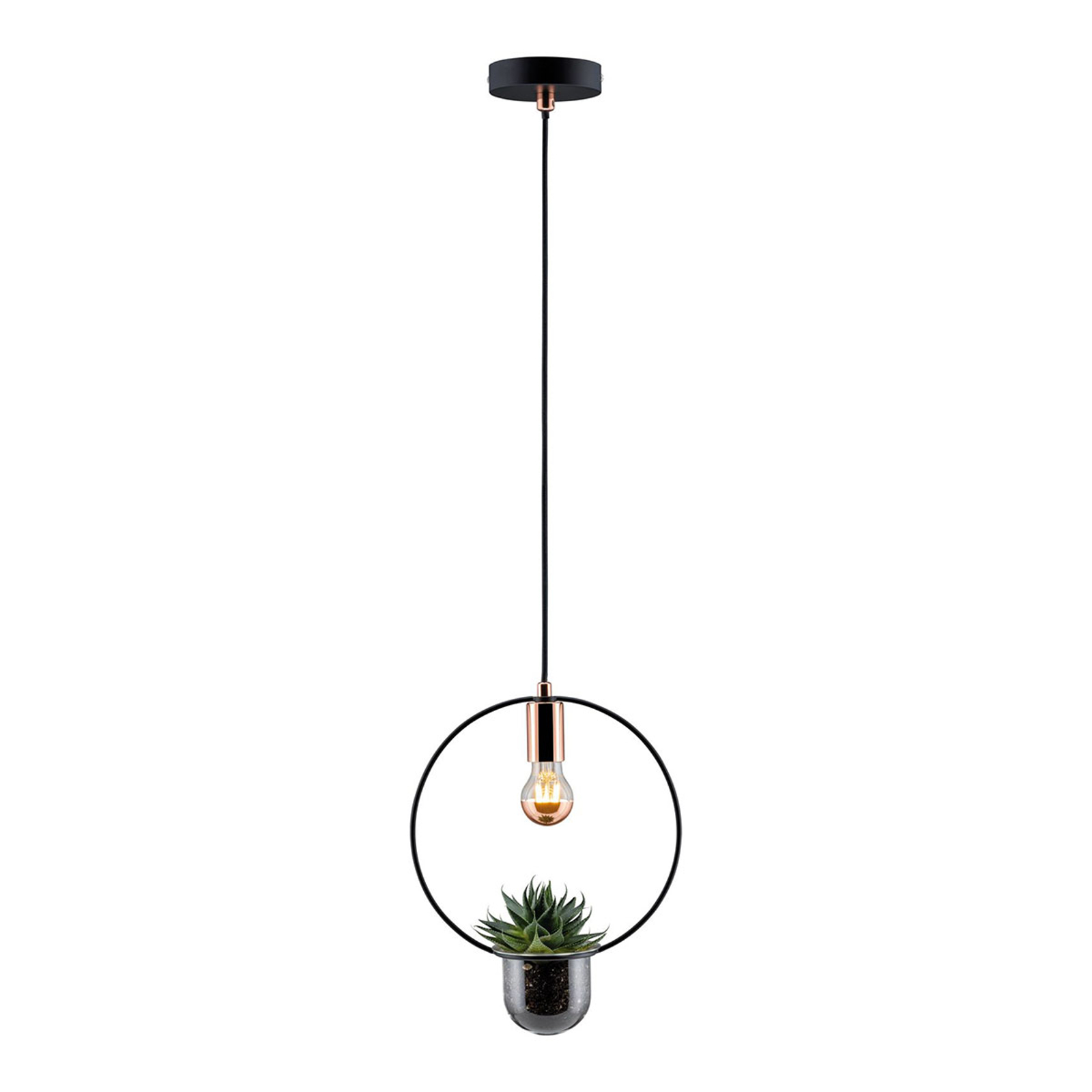 Paulmann hanglamp Tasja met plantenbak