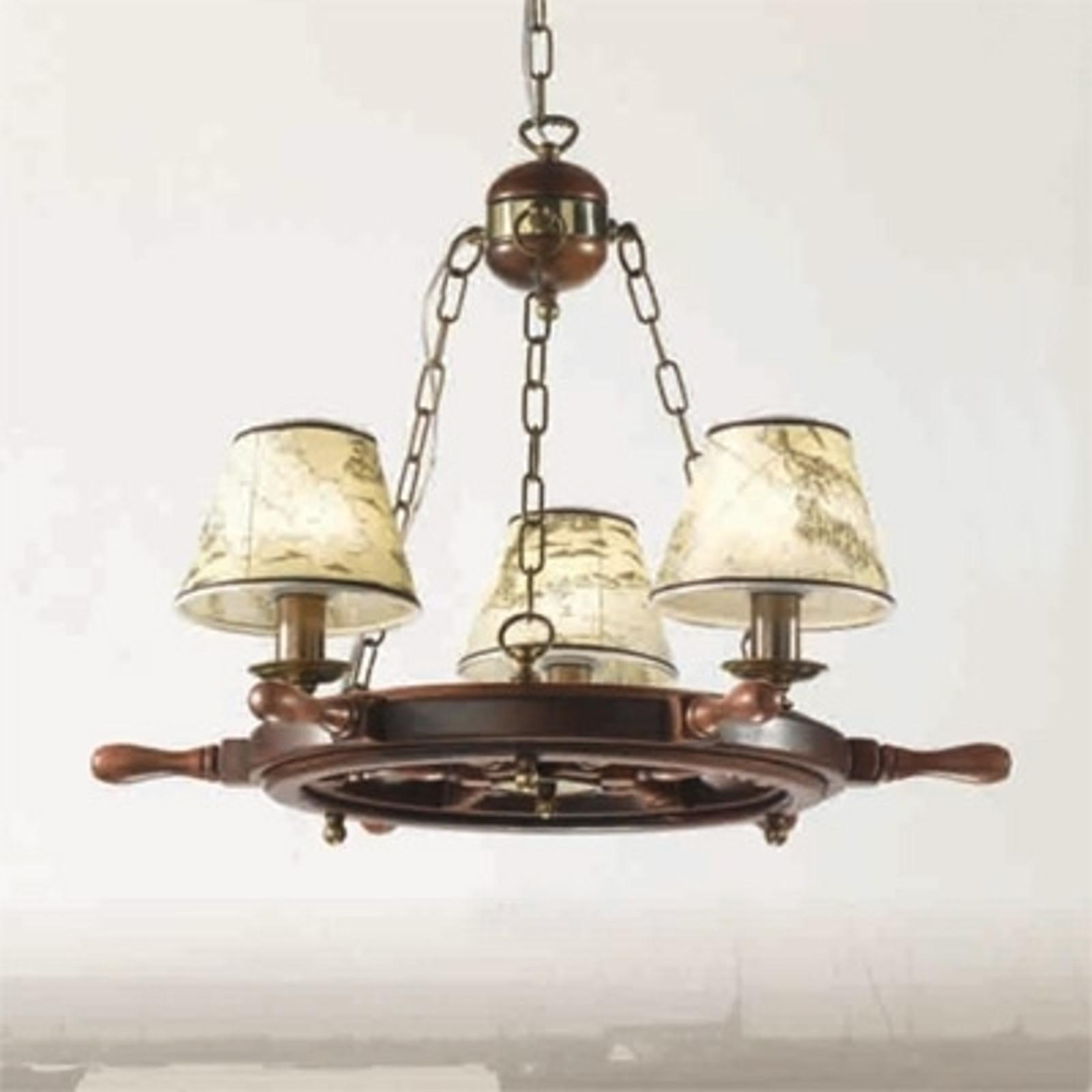 Lámpara de araña Porto, 3 luces